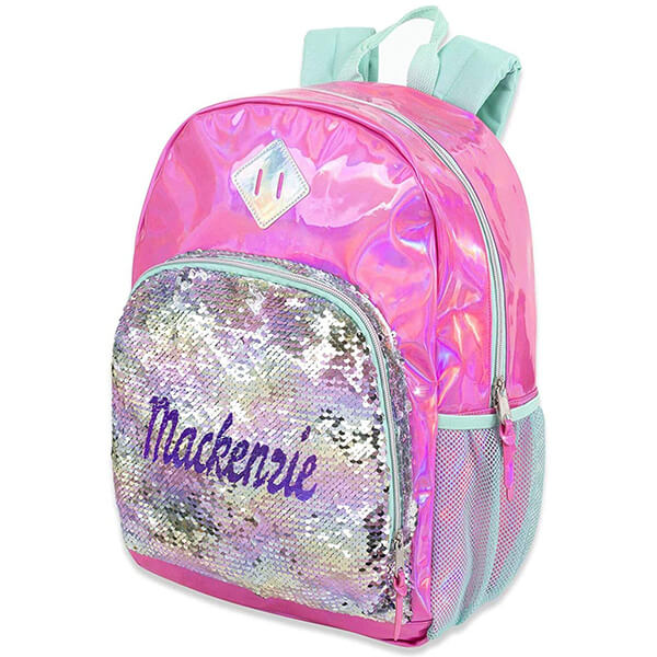 Personalized Magic Name Girls Sequin Backpack