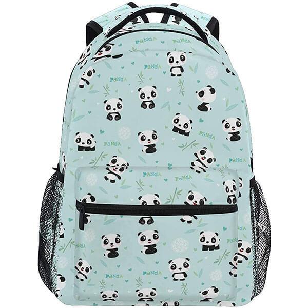 Sporty Panda Bear Backpack for Teenagers