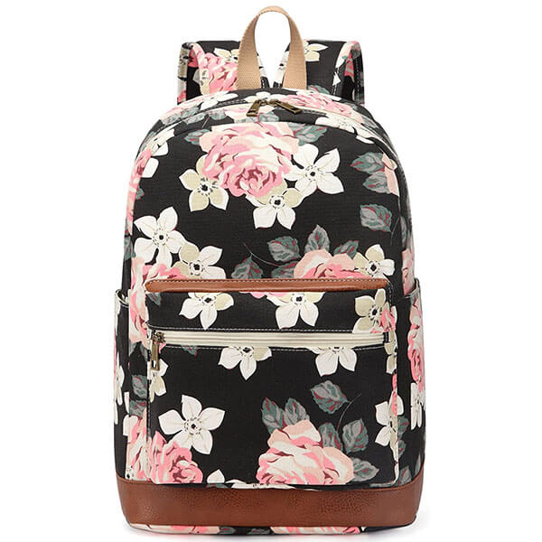 Travel Backpack with Roses for Women