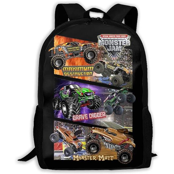 Water-resistant Monster Jam Backpack