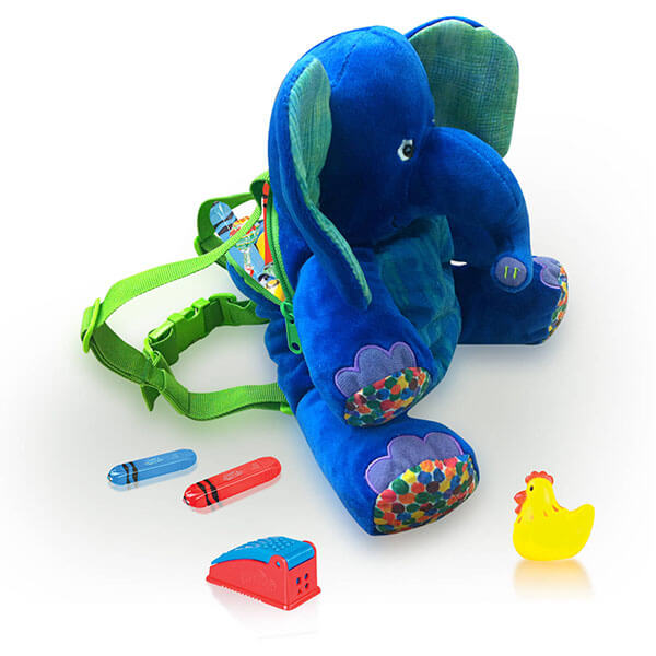 Adorable Multicolor Elephant 3D Backpack
