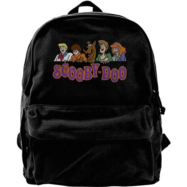 Ink Black Canvas Fabric Scooby Doo Backpack
