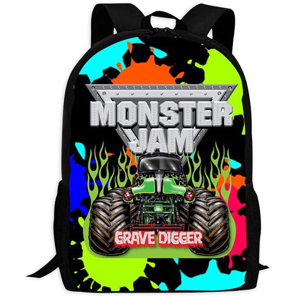 Polyester Lining Monster Jam Bookbag