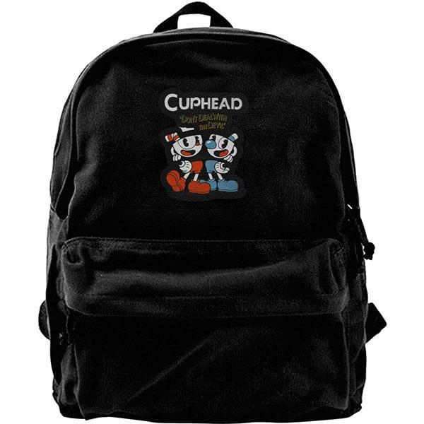Stain Resistant Cuphead School Backpack