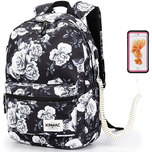 Waterproof Rose Backpack for School