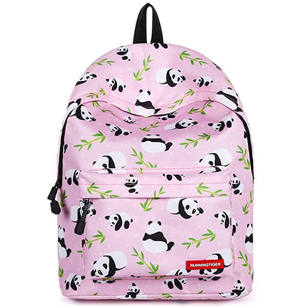 Light pink Fashion Panda Bear Backpack for Girls