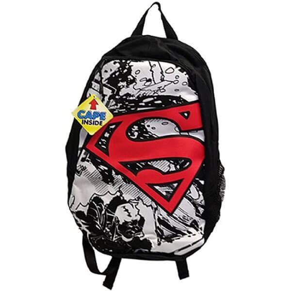Superman Super-Fan White Cape Backpack