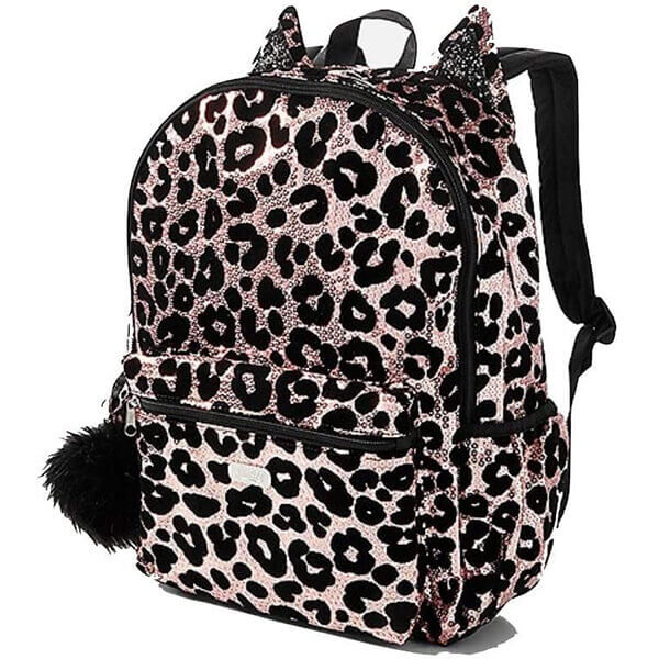 Cheetah Gold Sequin Backpack