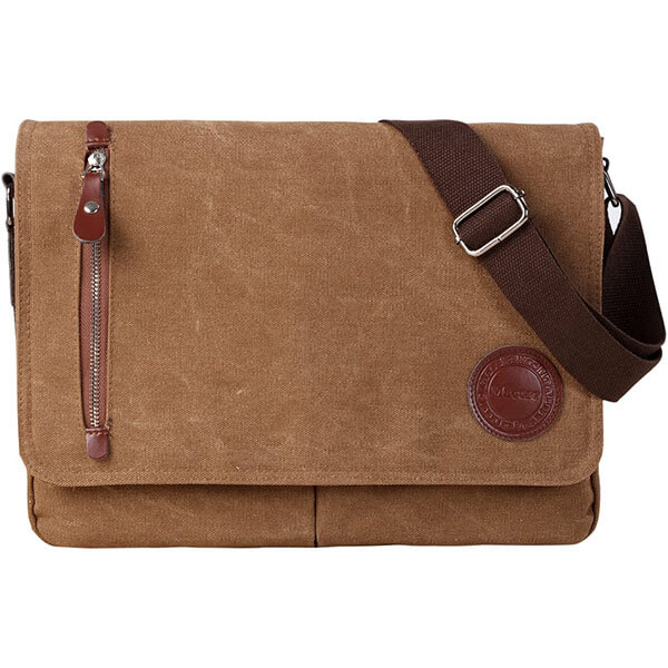 Coffee Colored Men Women Messenger Bag