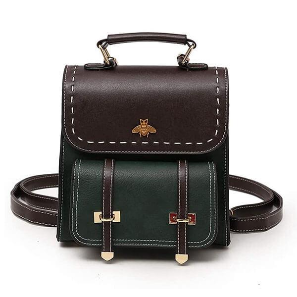 Faux Leather Classic Women Mini Backpack
