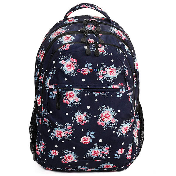 Trendy Backpack with Roses for Teenagers