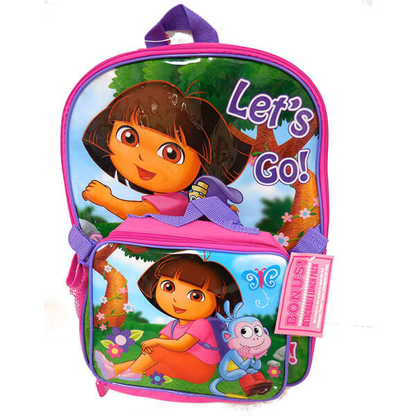 Let's Go To School With Dora Boots Backpack Set