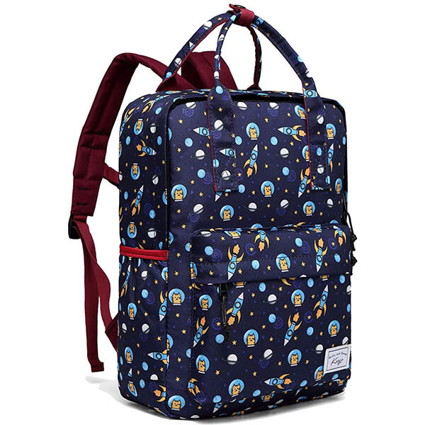 Lightweight Galaxy Backpack with Water Bottle Pocket