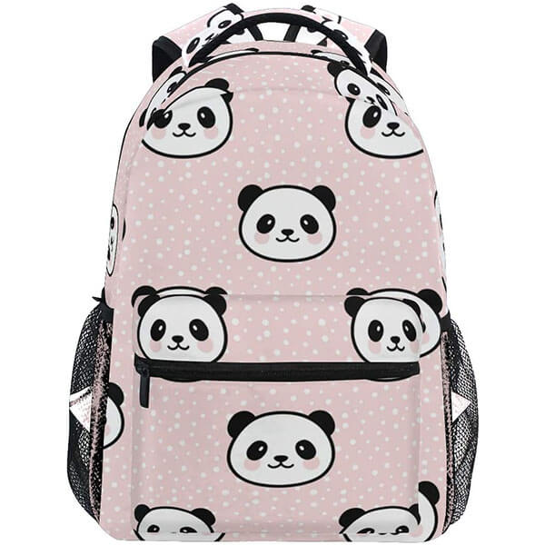 Seamless Cute Panda Backpack for Teenagers