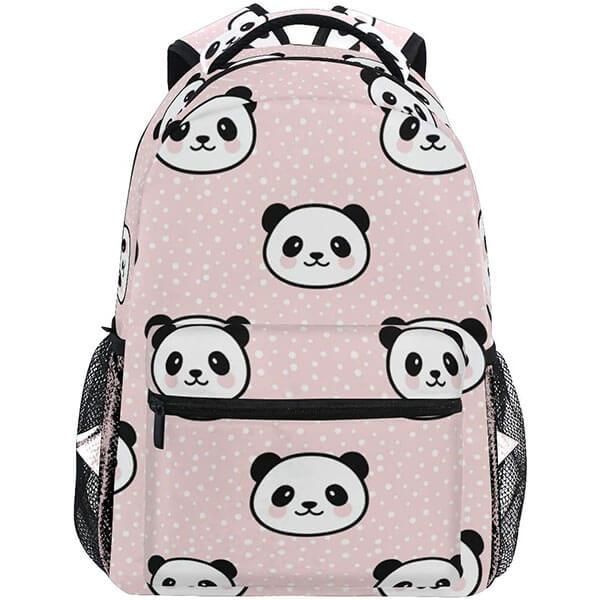 Seamless Cute Panda Backpack for Teenagers