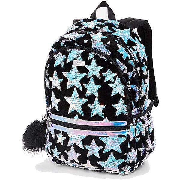 Velvet Star Travel Flip Sequins Backpack