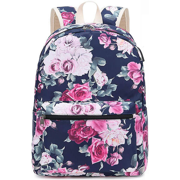 Canvas Laptop Women Rose Backpack