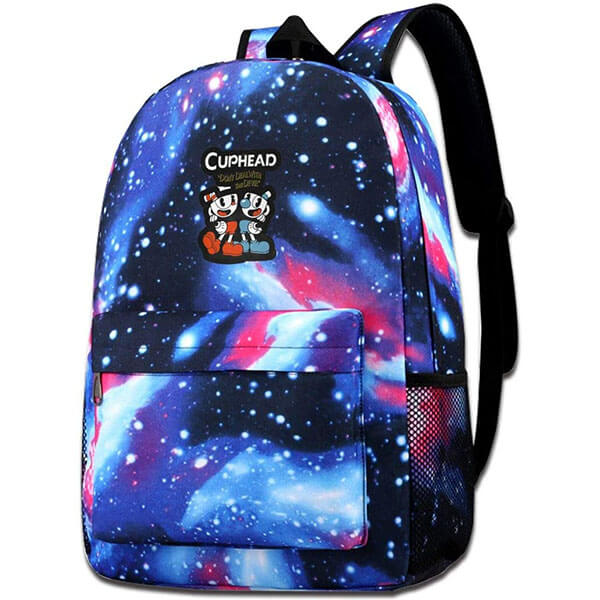 Classic Cuphead Backpack With Galaxy Design