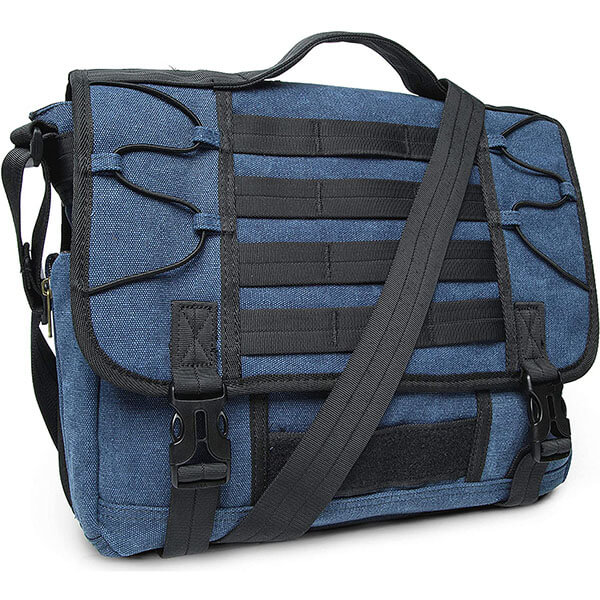 Multi-function USB-Port Messenger Bag for Schoolboys