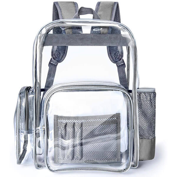 Oxford Fabric Bottom Clear Backpack