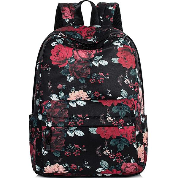 Red Rose High School Girl's Flower Backpack