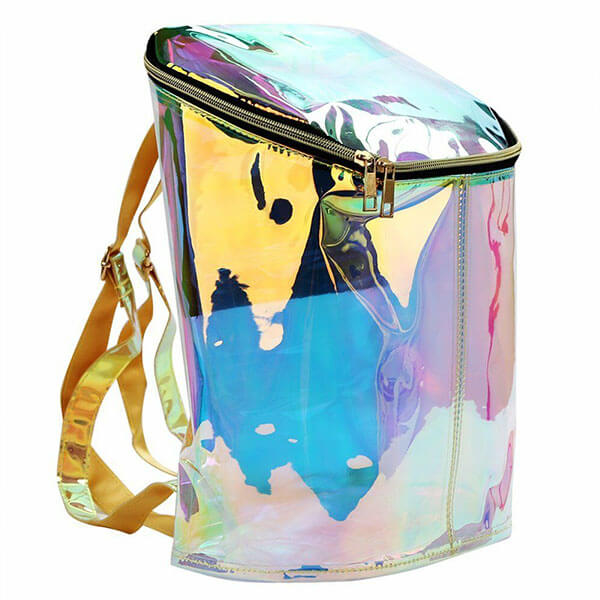 Synthetic Candy Color Laser Backpack