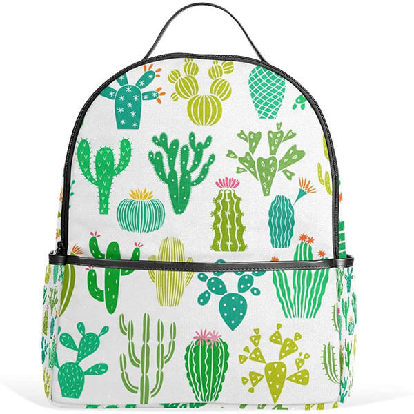 Casual High Fabric Cactus Backpack