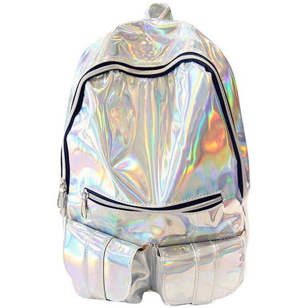 Glitters Faux Leather Laptop Backpack