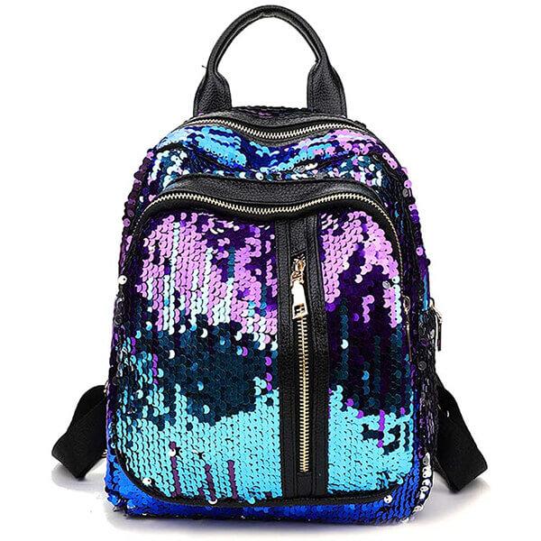 Sparkly Mermaid Teenagers Sequin Backpack