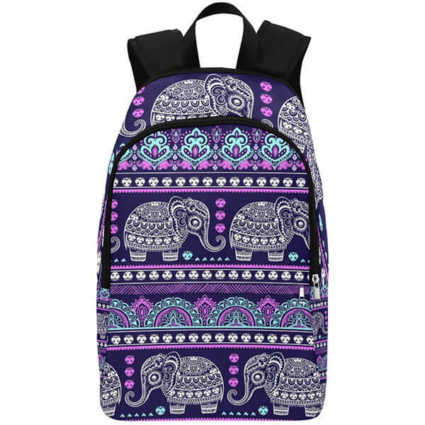 Tribal Ethnic Elephant Travel Backpack