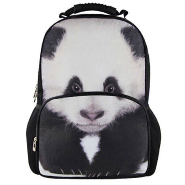 Anime Panda Bear Backpack for Adolescents