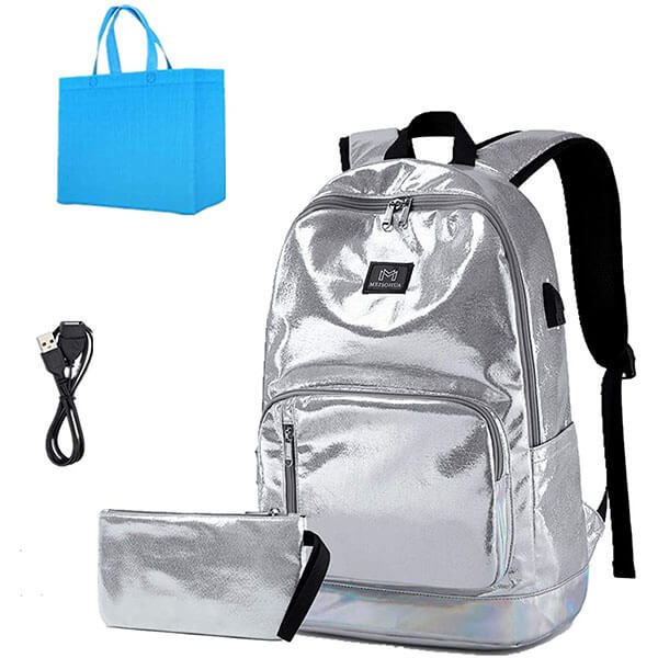 Casual Canvas Backpack with USB Slot