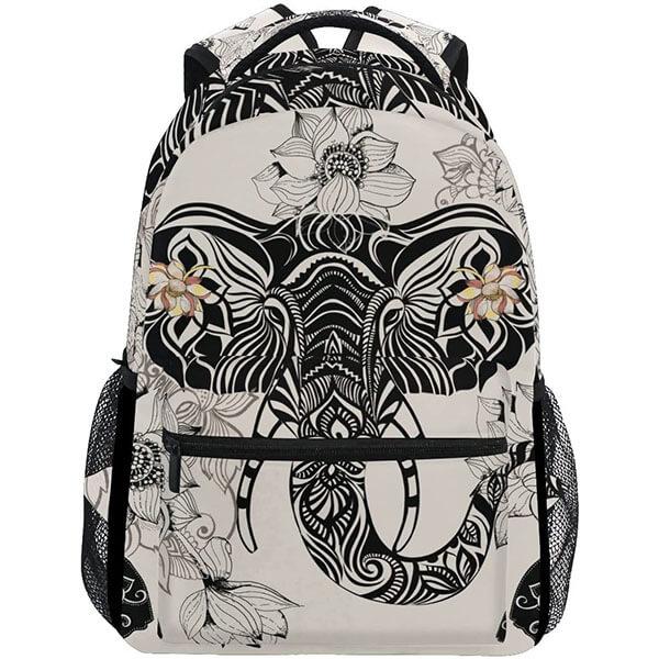 Floral Polyester Elephant Backpack