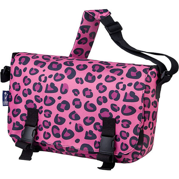 Pink Leopard Messenger Bags for School Girl