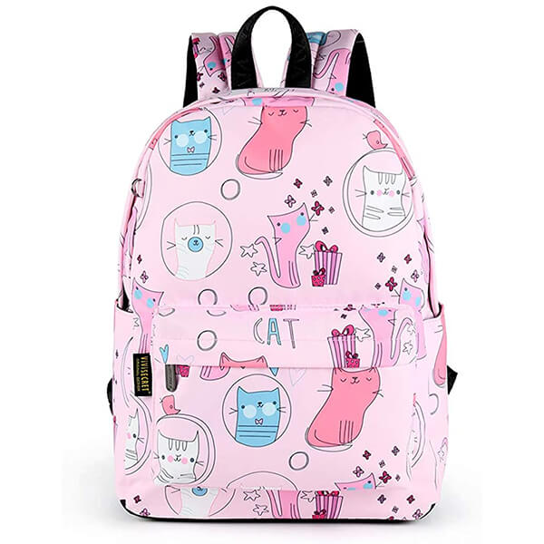 Cat Fans Gift Woven Fabric School Backpack