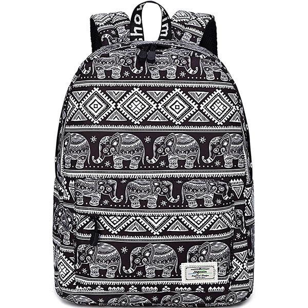 Ergonomic Cute Print Elephant Backpack