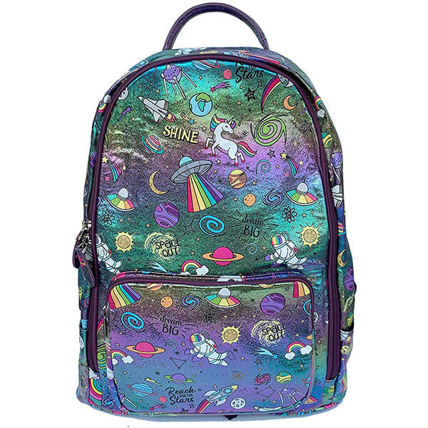 Glittery Holographic Galaxy Backpack