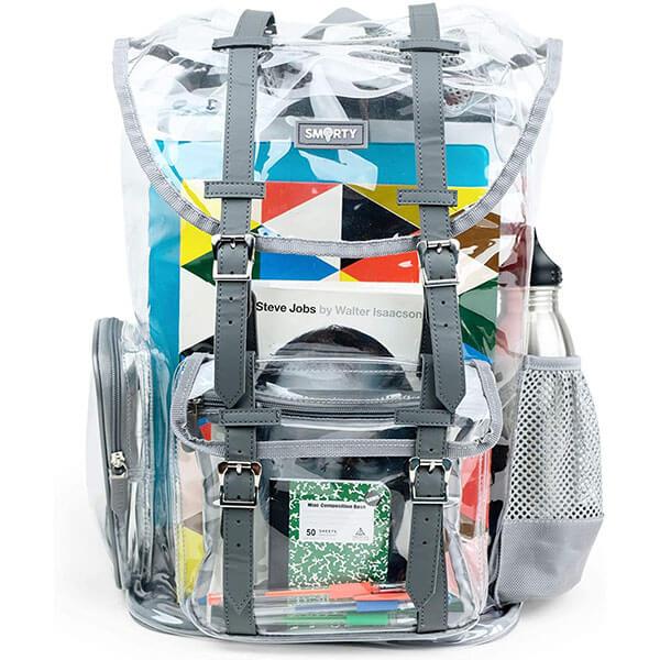 Military Nylon Clear Plastic School Backpack