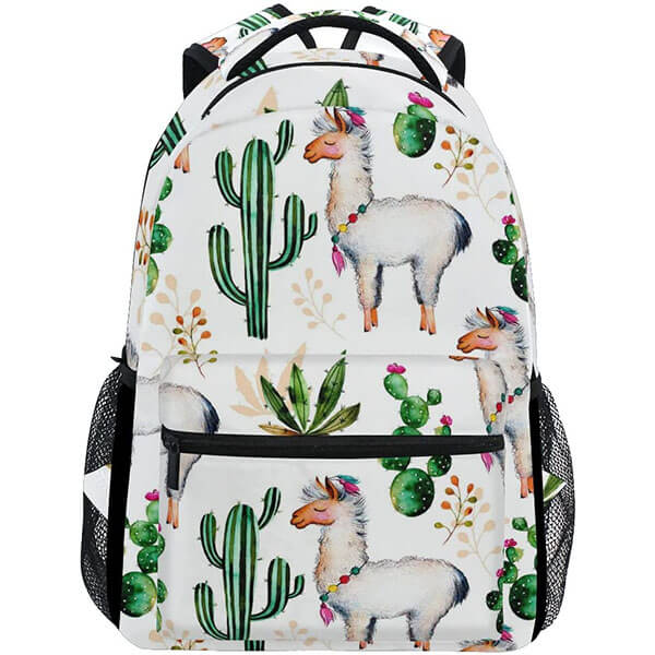 Animal with Cactus Print Backpack