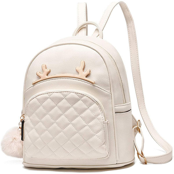 Beige Antlers PU Leather Casual Mini Backpack