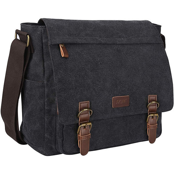 Canvas 14-Inch Laptop Briefcase Messenger Bag