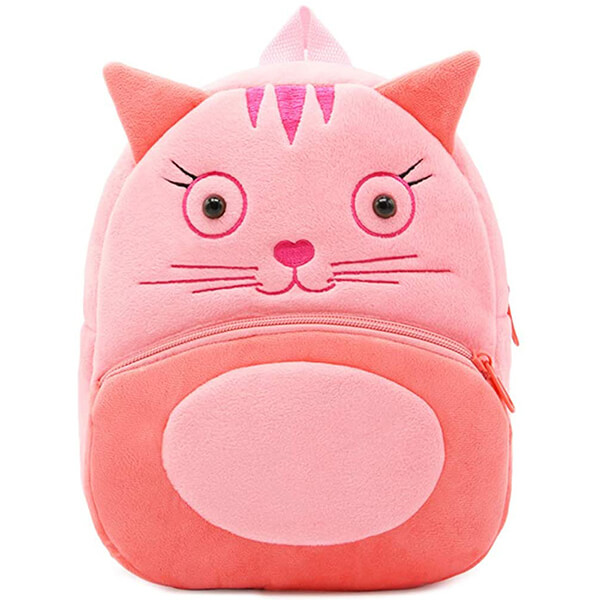 Cute Plush Toddlers Cat Backpack for School