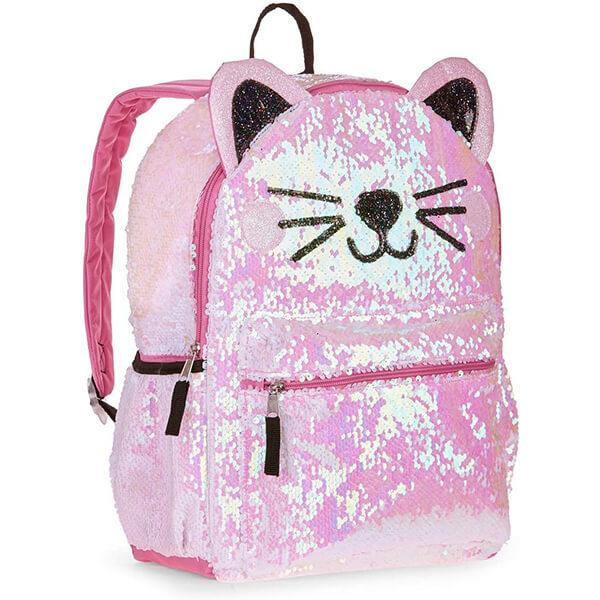 Kitty Cat Grade Schoolers Flip Sequins Backpack