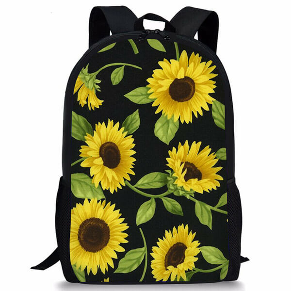 Anti-theft Travel Laptop Chamber Sunflower Backpack