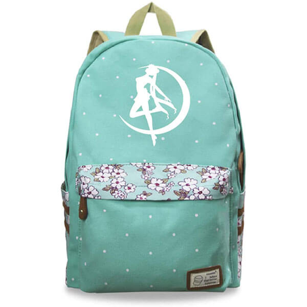 Durable Green color Sailor Moon Backpack
