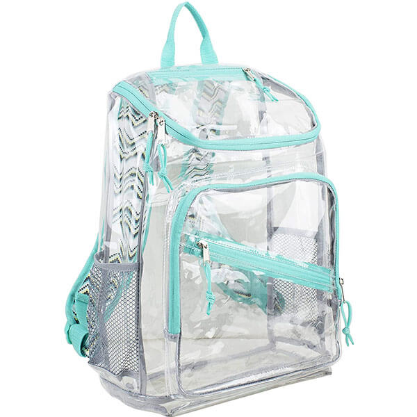 Printed Straps Middle Schoolers PVC Backpack