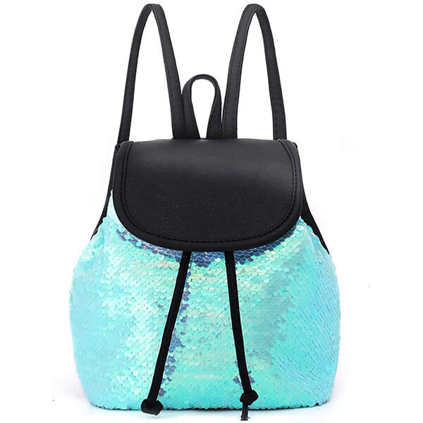 Flip Sequins Drawstring Mini Backpack