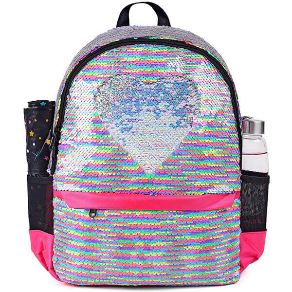 My Heart Goes Reversible Sequin Backpack
