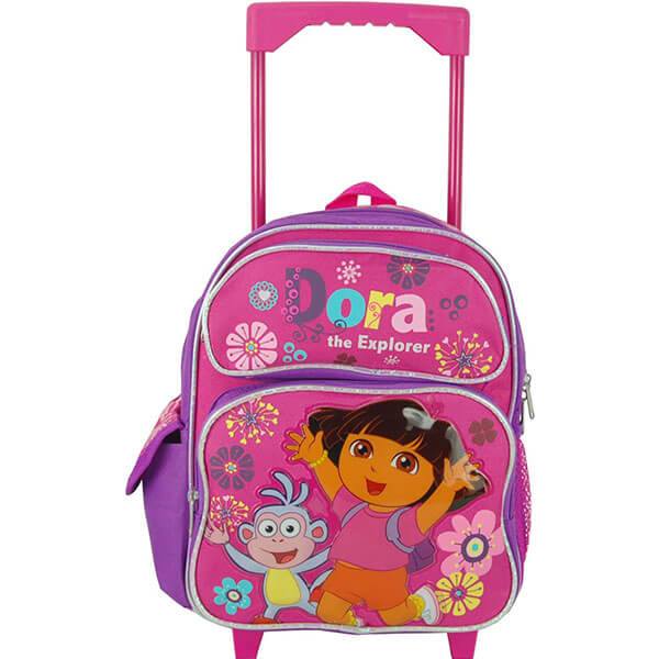 Trendy Sturdy Toddlers Dora Rolling Backpack