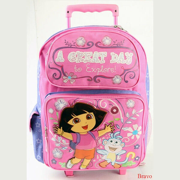 Great day Rolling Backpack With Dora and Boots